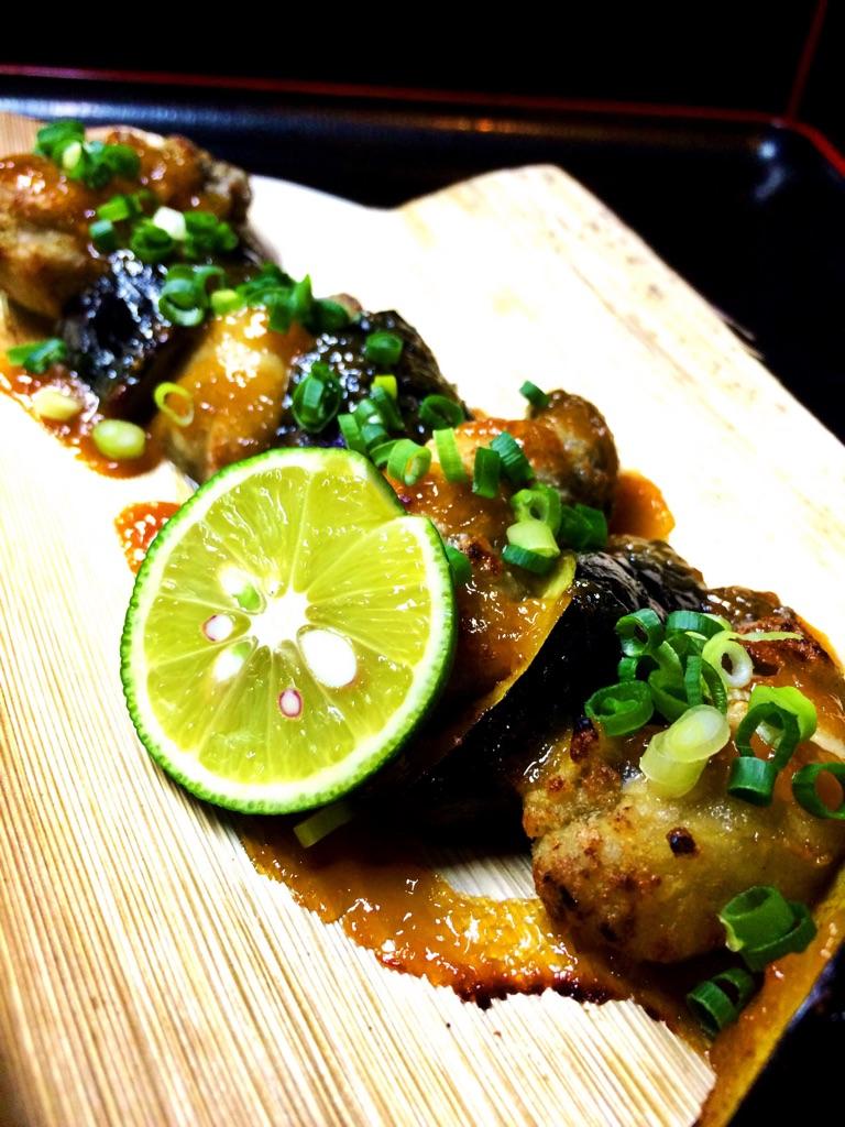 牡蠣の味噌バター焼き