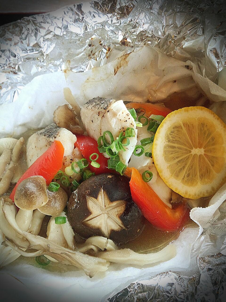 鱈とキノコのホイル焼き